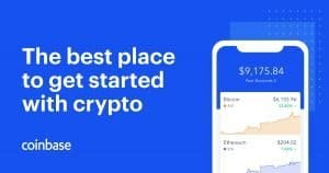 Coinbase app, available for both android and iPhone