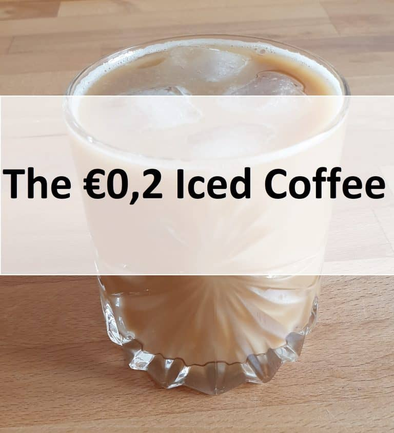 The €0,2 iced coffee