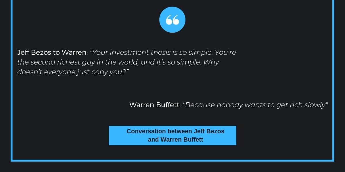 Jeff Bezos comment on Warren Buffetts investment strategy