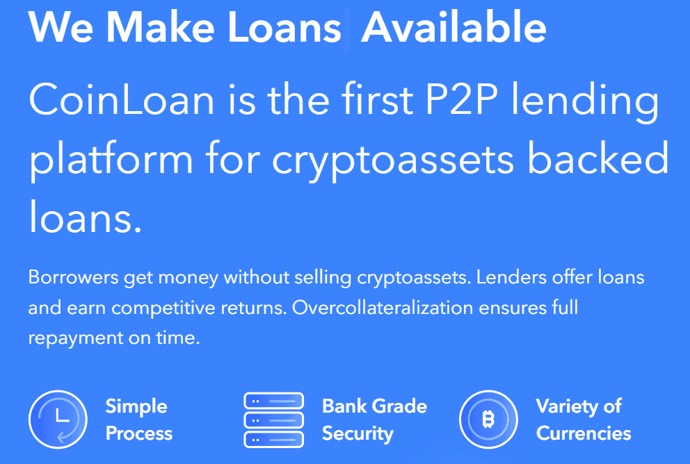 CoinLoan making loans available through cryptocurrencies