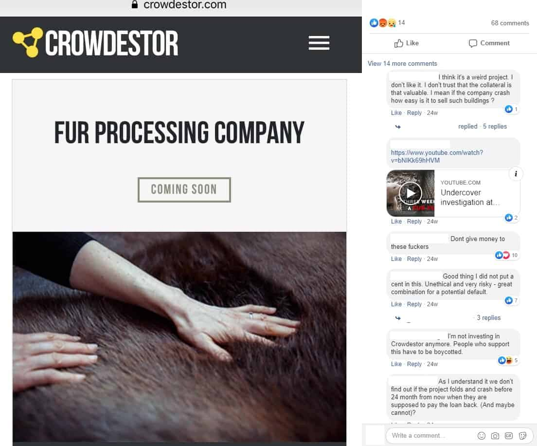 Crowdestor posts investments in fur companies